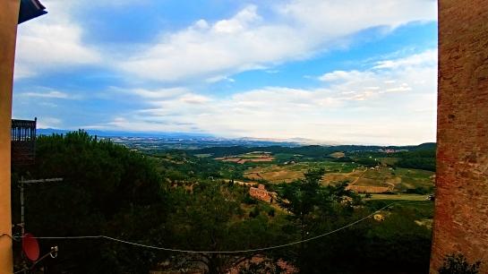 Balcony, Tuscany, Montepulciano, Italy