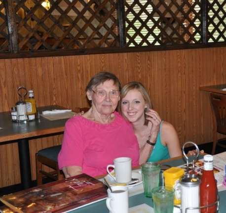 Gram & I before I left for college - Wandering Nobody Travel Blog