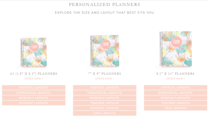 Plum Paper Planner Options - Wandering Nobody Travel Blog