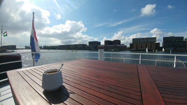 Amsterdam House Boat Coffee - Wandering Nobody Travel Blog