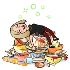 Thanksgiving Bitmoji - Wandering Nobody Travel Blog