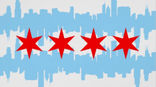 Chicago Flag and City Skyline - Wandering Nobody Travel Blog