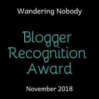 Blogger Recognition Award 2018